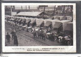 Carte Postale 62. Aubigny-en-Artois  La Station Des Voitures Sanitaires De La Croix Rouge  Très Beau Plan - Aubigny En Artois