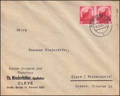 547 Parteitag 12 Pf. Im Paar Als MeF Auf Brief NÜRNBERG 8.9.34 Nach Cleve - Unclassified