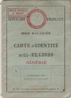Carta D'Identita' Algerina   1937 - Documenti Storici