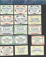 KAPSALON - COIFFEURS - KAPPERS - HAARKAPPERS - BARBERS  -VIER KADER -DE KLOOF - BERGEN OP ZOOM Dutch Matchbox Labels - Luciferdozen - Etiketten