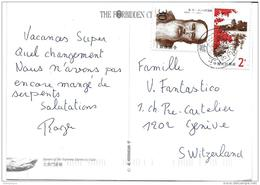 239 - 46 - Carte Envoyée De Chine En Suisse 1996 - 1949 - ... People's Republic