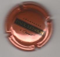 Capsule Champagne Lebrun Paul N° 46 Cuivre Et Noir - Champagne