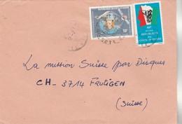 Côte D' Ivoire - Lettre 1982 Pour Frutigen Suisse - éléphant - Télécommunications Avion Satellite Espace - Côte D'Ivoire (1960-...)