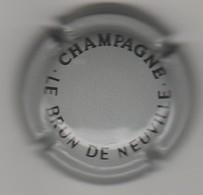 Capsule Champagne Le Brun De Neuville N° 24a Gris Et Noir - Sonstige