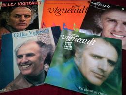 GILLES  VIGNEAULt  ))  COLLECTION DE 15 VINYLES DIFFERENTS ORIGINALE - Vollständige Sammlungen