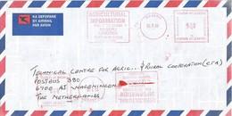 "Lesotho 2008 Maseru Meter Postalia ""EFS"" 115 Agriculture EMA Cover. Very Rare! - Lesotho (1966-...)"