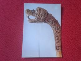 POSTAL POST CARD NORUEGA NORGE NORWAY ? ANIMAL HEAD POST, THE OSEBERG FIND DYREHODESTOLPE FRA OSEBERGFUNNET.....VER FOTO - Noruega