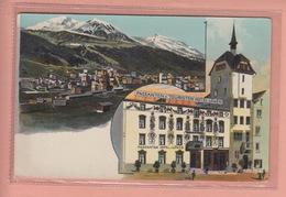 OUDE POSTKAART ZWITSERLAND -  SCHWEIZ -   SUISSE -  DAVOS  HOTEL LOWEN - GR Grisons