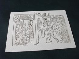 Cartolina LA CONSEGNA DI UNA LETTERA DA PARTE DI UN FANTE STORIA DI POSTA LIGURI - Post
