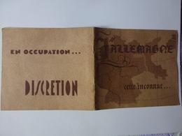 """PETIT RECUEIL DE SECURITE MILITAIRE SOUS L'OCCUPATION ALLEMANDE INTITULE """" L'ALLEMAGNE CETTE INCONNUE """", VOIR SCAN - 1939-45"""