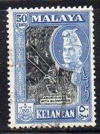 XP4602 - KELANTAN MALAYSIA 1957 , Yvert N. 85 Usata  (2380A) - Kelantan