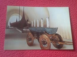 POSTAL POST CARD NORUEGA NORGE NORWAY OSLO THE VIKING SHIPS MUSEUM MUSEO DEL BARCO VIKINGO OSEBERG SHIP THE CART FROM... - Noruega