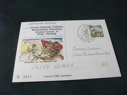 CARTOLINA POSTALE ITALIANA NAPOLEONE PIACENZA 1997 TIRATURA 5000 ESEMPLARI STORIA POSTALE - Uomini Politici E Militari