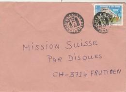 Côte D' Ivoire - Lettre 24/12/1981 Pour Frutigen Suisse - Chemin De Fer - Côte D'Ivoire (1960-...)