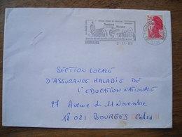 Indre 1989 Aigurande Festival Ecrevisse, Eglise XIIIe - Marcophilie (Lettres)
