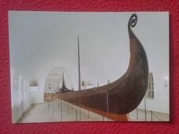 POSTAL POST CARD NORUEGA NORGE NORWAY OSLO THE VIKING SHIPS MUSEUM MUSEO DEL BARCO VIKINGO OSEBERG SHIP OSEBERGSKIPET... - Noruega