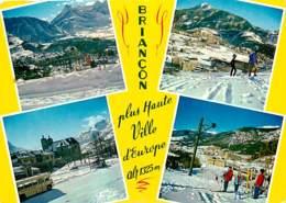 05 - Briançon - Multivues - Automobiles - Bus - Hiver - Neige - Voir Scans Recto-Verso - Briancon