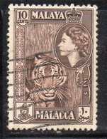 XP4675 - MALACCA MALAYSIA 1957 , 10 Cent Usato  (2380A) - Malacca