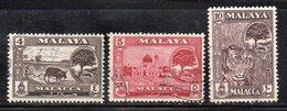 XP4621 - MALACCA MALAYSIA 1960 , 3 Valori Usato  (2380A) - Malacca