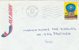 Côte D' Ivoire - Lettre ABIDJAN TRI 14/3/1981 Pour Frutigen Suisse - Tourisme - Côte D'Ivoire (1960-...)