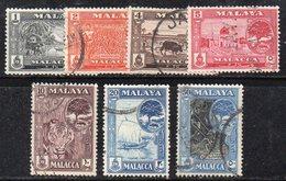 XP4570 - MALACCA MALAYSIA 1960 , 7 Valori Usato  (2380A) - Malacca