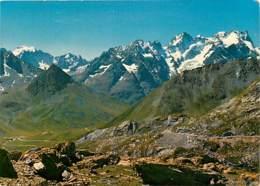 05 - Hautes Alpes - Col Du Galibier - Panorama Vu Du Col Du Galibier (alt. 2556 M.). A Gauche, Les Ecrins (4102 M.) Et L - France