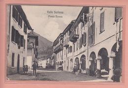 OLD POSTCARD -  ITALY - ITALIA - PONTE NOSSA - ANIMATED STREET VIEW - Bergamo