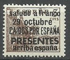 Emision Local Patriotica Particular. Saludo A Franco. - España