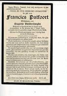 DP 10159 - FRANCIES PATFOORT - VANDENBERGHE - HOUTHEM 1842 + DE PANNE 1917 - Images Religieuses