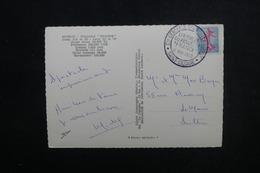 FRANCE - Oblitération Temporaire Du Lancement Du Paquebot France En 1960 Sur Carte Postale Pour Le Mans - L 53515 - Marcophilie (Lettres)