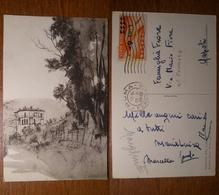 Soriano Nel Cimino ( Viterbo ) Villino Professor Mej -  Viaggiata 1948 Anni '40 Su Posta Aerea Sovrastampa 6L - Viterbo