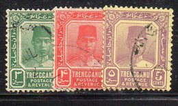 XP4493 - TRENGGANU MALAYSIA 1910 , Yvert N. 26+27+29  Usati   (2380A)  Fil MultiscriptCA - Trengganu