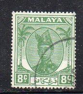 XP4491 - KEDAH MALAYSIA 1950 , Yvert N. 75  Usato  (2380A) - Kedah