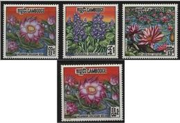 CAMBODIA 1970 WATER FLOWERS MNH ** FLEURS FLORES FIORI BLUMEN SCOTT 231/233 231a MICHEL 274/6 274i - Plants
