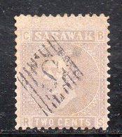 XP4497 - SARAWAK MALAYSIA 1871 , Yvert N. 2  Usato  (2380A) DIFETTOSO PER TRASPARENZA - Sarawak (...-1963)