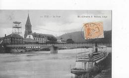 """1 Cpa Tilff : Le Pont,  Vue Vers Le """"café Du Pont"""", Bateau De Plaisance à L'avant - Belgique"""