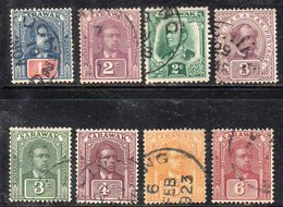 XP4496 - SARAWAK MALAYSIA , Otto Valori Diversi Usati  (2380A) - Sarawak (...-1963)