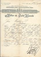 Hongrie - Kassa/Kaschau - Entête De 1893 Adler és Gold Kassan - Csasz és Kir.kizarolag Szabadalmazott. - Factures & Documents Commerciaux