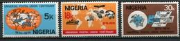 Nigeria Mi# 304-6 Postfrisch MNH - UPU 1974 - Nigeria (1961-...)