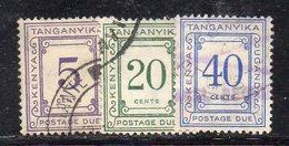XP4465 - KENYA UGANDA TANGANYKA , 3 Bolli Di Servizio  (2380A) MultiscriptCA - Kenya, Uganda & Tanganyika