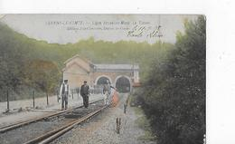1 Cpa Colorisée Braine-le-Comte : Ligne Bruxelles-Mons : Le Tunnel. Cheminots - Braine-le-Comte