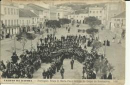 Portugal - Caldas Da Rainha - Praça D. Maria Pia E Revista Do Corpo De Bombeiros - Leiria