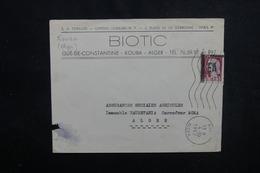 ALGÉRIE - Type Decaris Surchargé EA Sur Enveloppe De Kouba En 1962 Pour Alger - L 53537 - Algérie (1962-...)