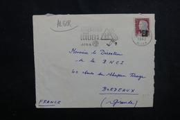 ALGÉRIE - Type Decaris Surchargé EA Sur Enveloppe De Alger En 1962 Pour La France - L 53539 - Algérie (1962-...)