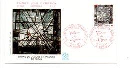 FDC 1986 CROIX ROUGE VITRAIL - FDC