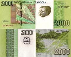 ANGOLA 2000 Kwanzas 2012 - Dande Falls, P157, UNC - Angola