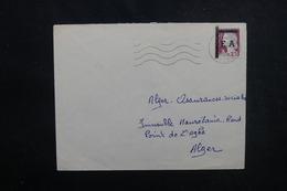 ALGÉRIE - Type Decaris Surchargé EA Sur Enveloppe De Alger En 1962 Pour Alger - L 53542 - Algérie (1962-...)