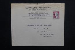 ALGÉRIE - Type Decaris Surchargé EA Sur Enveloppe De St Denis Du Sig En 1962 Pour La France - L 53543 - Algérie (1962-...)