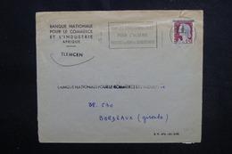 ALGÉRIE - Type Decaris Surchargé EA Sur Enveloppe De Tlemcen En 1962 Pour La France - L 53544 - Algérie (1962-...)