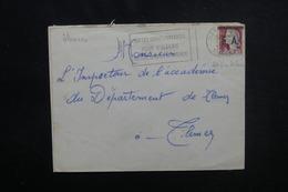 ALGÉRIE - Type Decaris Surchargé EA Sur Enveloppe De Tlemcen En 1962 Pour Tlemcen - L 53545 - Algérie (1962-...)